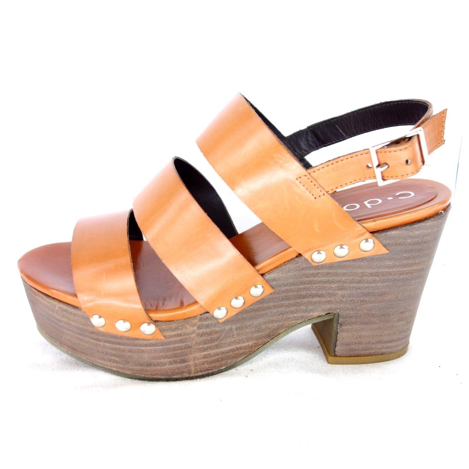 C Doux Mujer Sandalias Nina 50 37 38 marrón 41 Zapatos Cuero Np 229 Nuevo