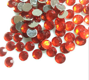 200pcs-8mm-Red-Acrylic-Crystal-Round-Faceted-Flat-Back-Rhinestones-Beads-DIY