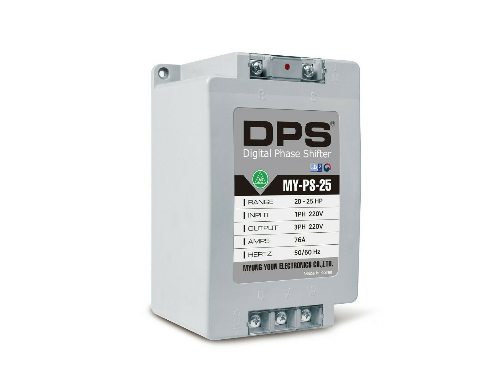 1 Phase to 3 Phase Converter, MY-PS-25, Best for 20HP(15KW) 60Amp 200-240V Motor