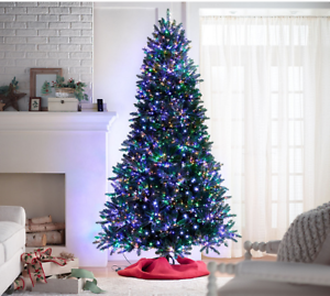 Santas Best Christmas Trees.Details About Santas Best Starry Pre Lit Led Lights Christmas Tree Warm White Multi 6ft 7ft
