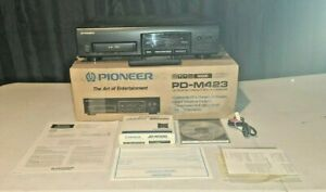 Pioneer 6 Compact Disc Player Model PD-M423 CD Player~ Remote Manual Extras Lot