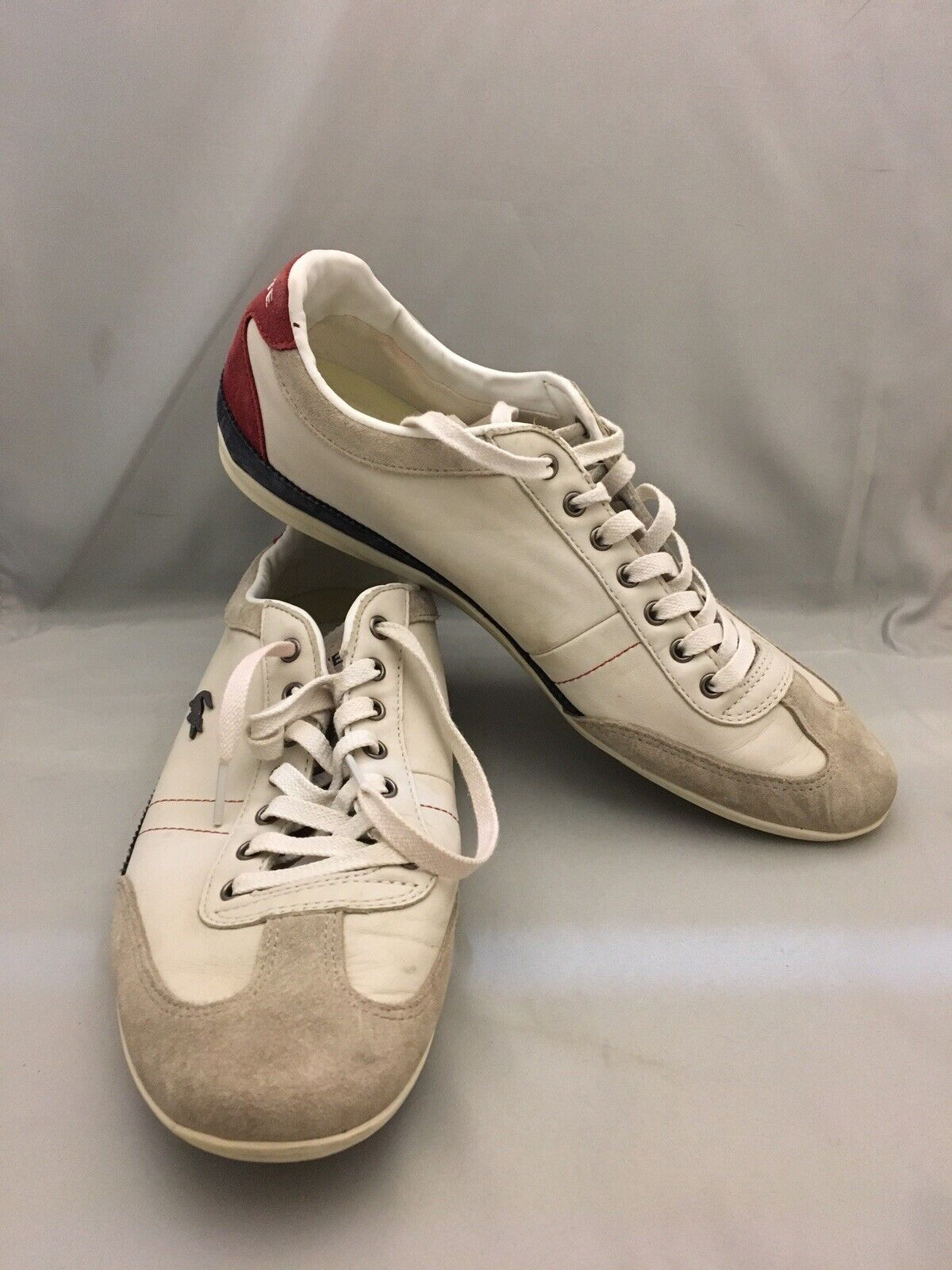 LACOSTE MEN'S LEATHER SNEAKERS size 11 Tennis shoes Very Good Condition NICE