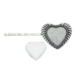 2pcs-Alloy-Silver-Glass-Cameo-Cabs-Tray-Cabs-Hair-Clips-Jewelry-Hair-Accessories