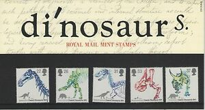 DINOSAURS 1991 SET OF ROYAL MAIL MINT GB STAMPS FREE P&P