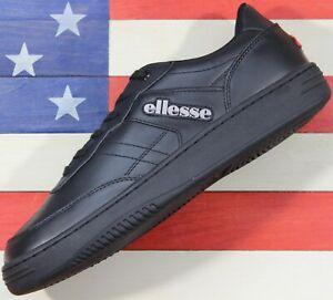 Ellesse-Vinitziana-2-0-Men-039-s-OG-Leather-AM-Tennis-Shoe-Black-Opal-Gray-6-10001