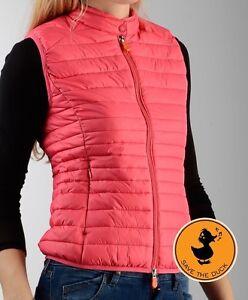a47eef226d8ce  175 NWT Save The Duck Womens Puffer Vest Jacket Plumtech Paradise ...