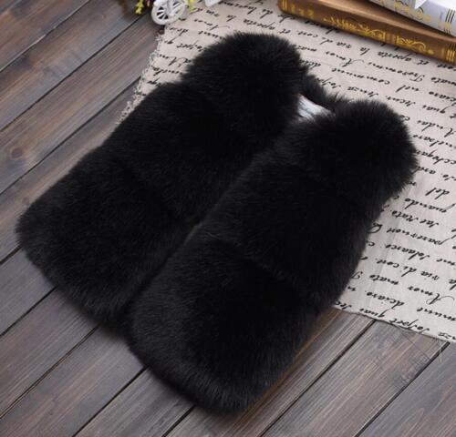 Children Kids Girls Baby Boys Fur Vest Gilet Winter Waistcoat Coat Bodywarmer UK