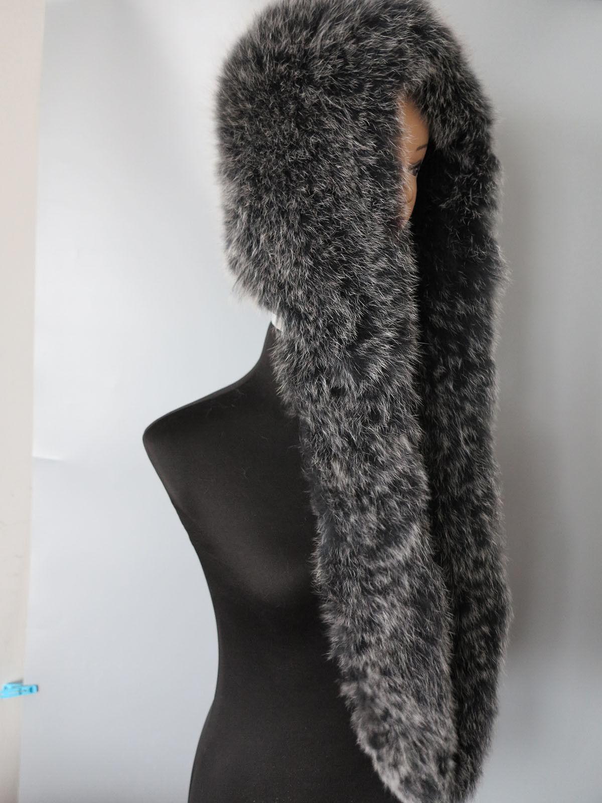 New style Braid Genuine Fox fur cap with scarf /collar/