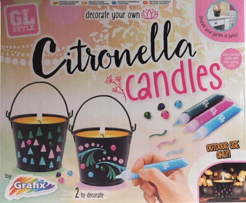 Grafix Decorate Your Own Citronella Candles In Mini Buckets Art Kit