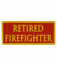 Retired Firefighter Red & Yellow Patch, Firefighter Patches