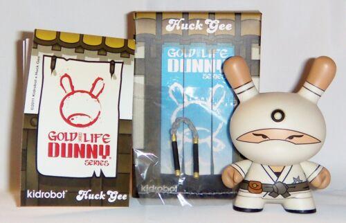 Kidrobot HUCK GEE Gold Life Dunny Zero Clan Ninja White 1//16 KR Nunchucks Vinyl