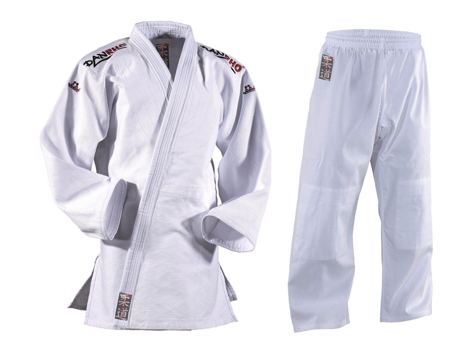 DANRHO Judoanzug Judoanzug Judoanzug Classic weiß. Größen 140-190cm. 100% Baumwolle. Judo 29cc99