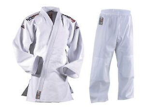 DANRHO-Judoanzug-Classic-weiss-Groessen-140-190cm-100-Baumwolle-Judo