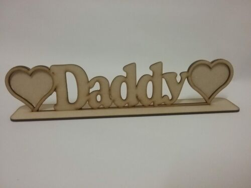 3mm mdf Daddy Photo frame fathers day gift present Craft Blank S137