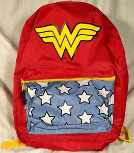Details About Nwt Dc Comics Wonder Woman Originals Ww Backpack Book Bag Symbols Shield