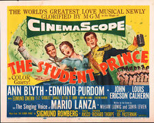 The Student Prince Lobby Card - Title Card - Mario Lanza - 1954  - VF