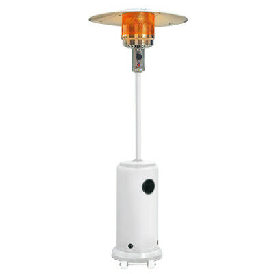 Glow Warm Deluxe Gas Patio Heater 13kw in Gloss White