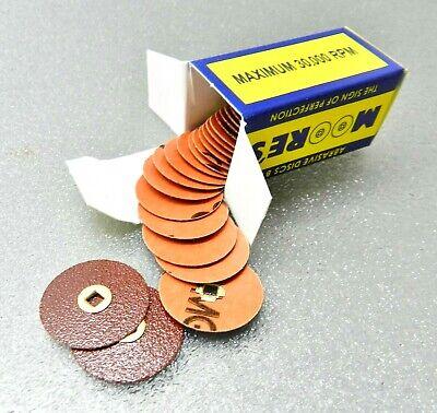 E Moores Adalox Aluminum Oxide Medium 7//8 Sanding Disc Box of 50 C