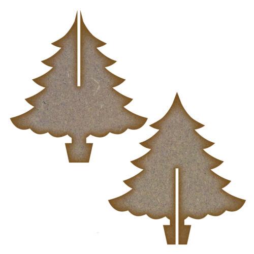 Mdf 3d Árbol De Navidad 145mm X 145mm X 160mm