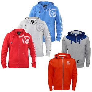 Mens Crosshatch Hoodie Full Zip Embroidery Soft Logo Print New Branded Top