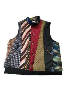 Paura di morire Puro succo  gilet benetton vest maglione jacket uomo men giubbotto multicolore tg M 90s  rare | eBay