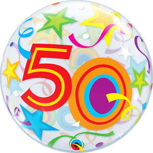 50th-BIRTHDAY-PARTY-SUPPLIES-BALLOON-22-034-BRILLIANT-STARS-SEE-THRU-BUBBLE-BALLOON