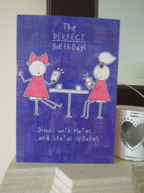 Purple Ronnie Facebook Status Updates Birthday Card Sister Best Friend Mates