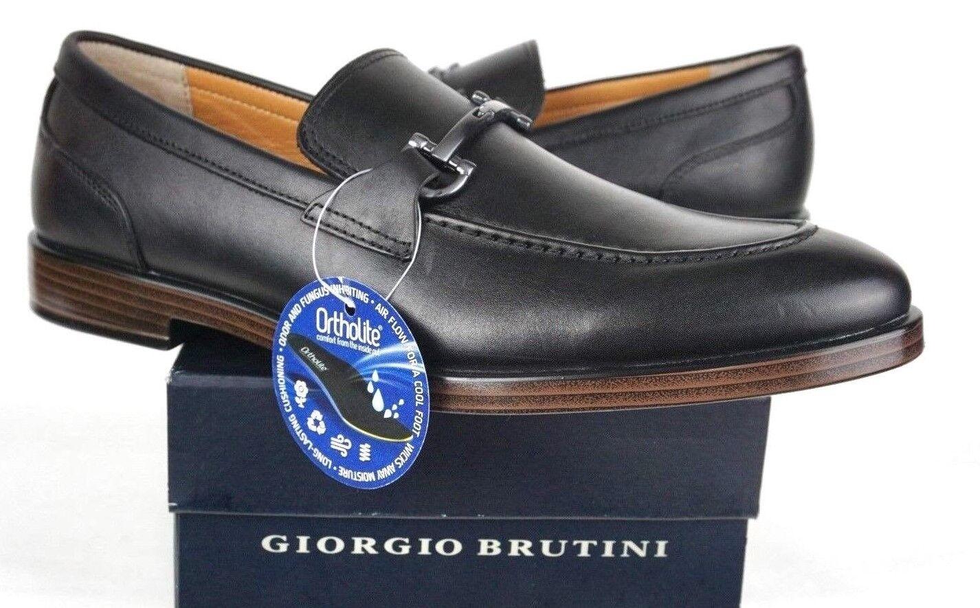 Giorgio Brutini Men's Sullivan Moc Toe Slip On shoes 177161 Black- Mens Sz 11M US
