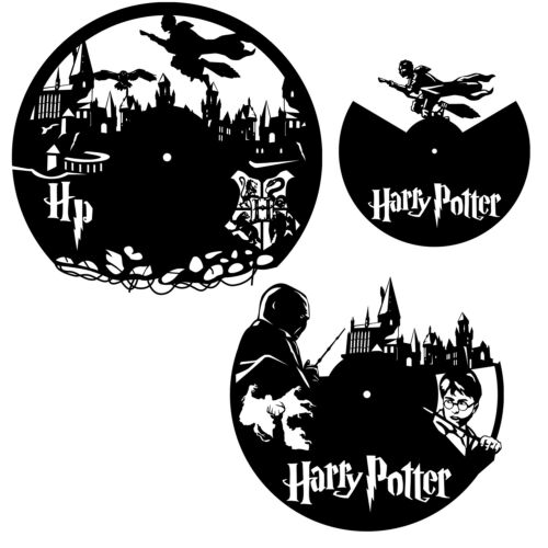 DXF CDR and EPS File For CNC Plasma or Laser Cut Harry Potter Clock Lot