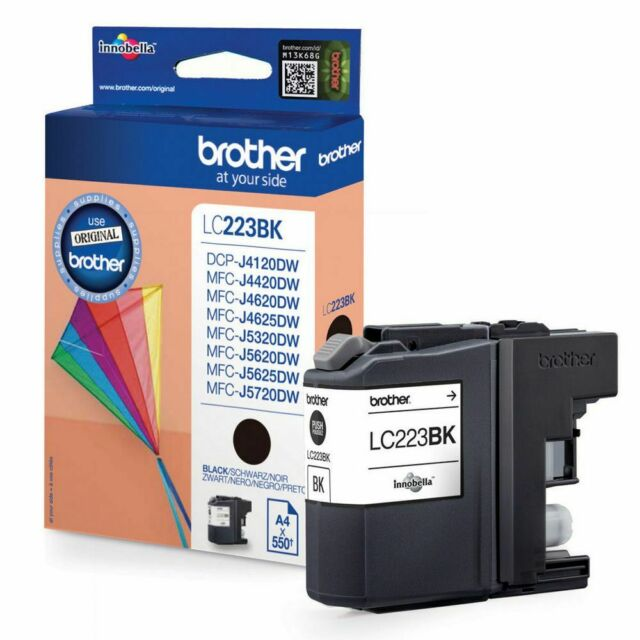 1 x Brother LC223BK Black Original OEM Ink Cartridge 550 Pages