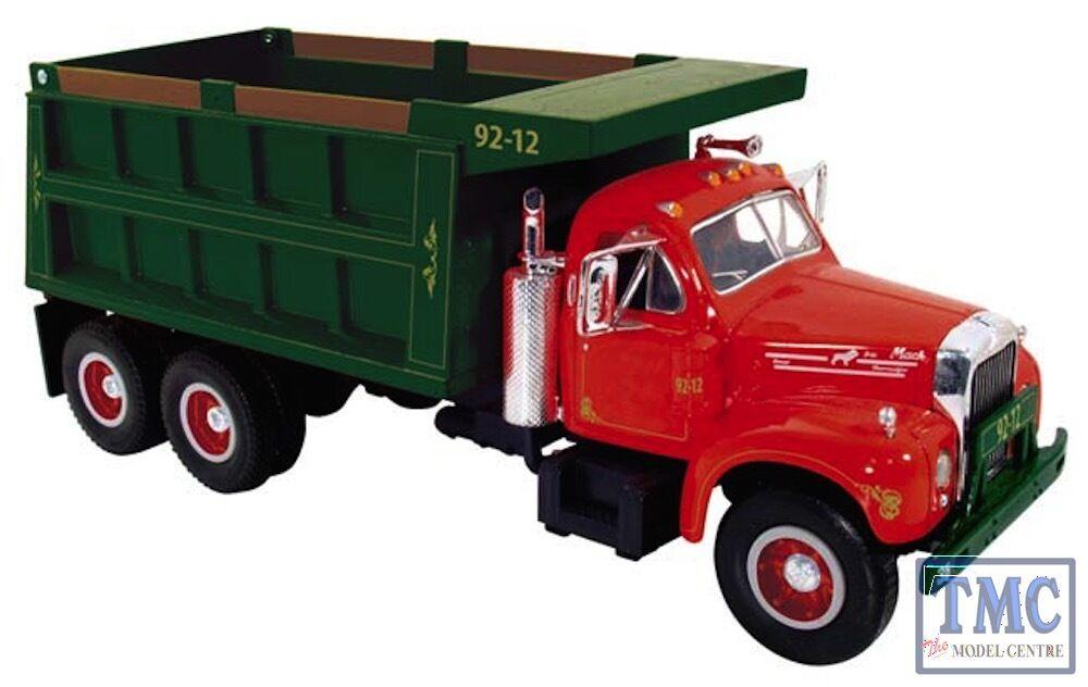10-3962 First Gear 1 34 SCALE  Mack B Modell Dump Truck rot & Grün