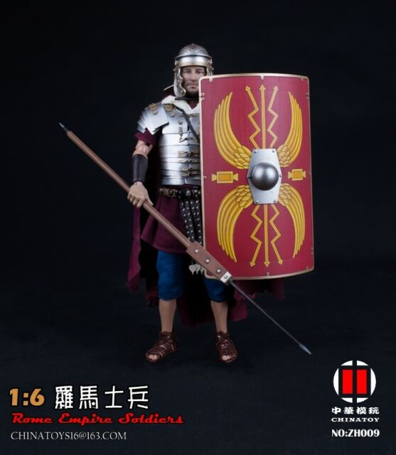 Infantry 1//6 Scale Toy Roman Army Brown /& Red Shield