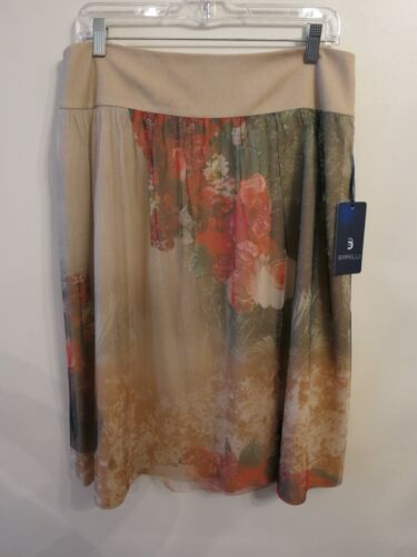 New 10 Taglia Brelli Womens Floral Skirt rwxqrZ1Rv