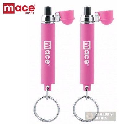 2 Pack Mace Mini Pepper Spray Hot Pink Covert Self Defense 80365