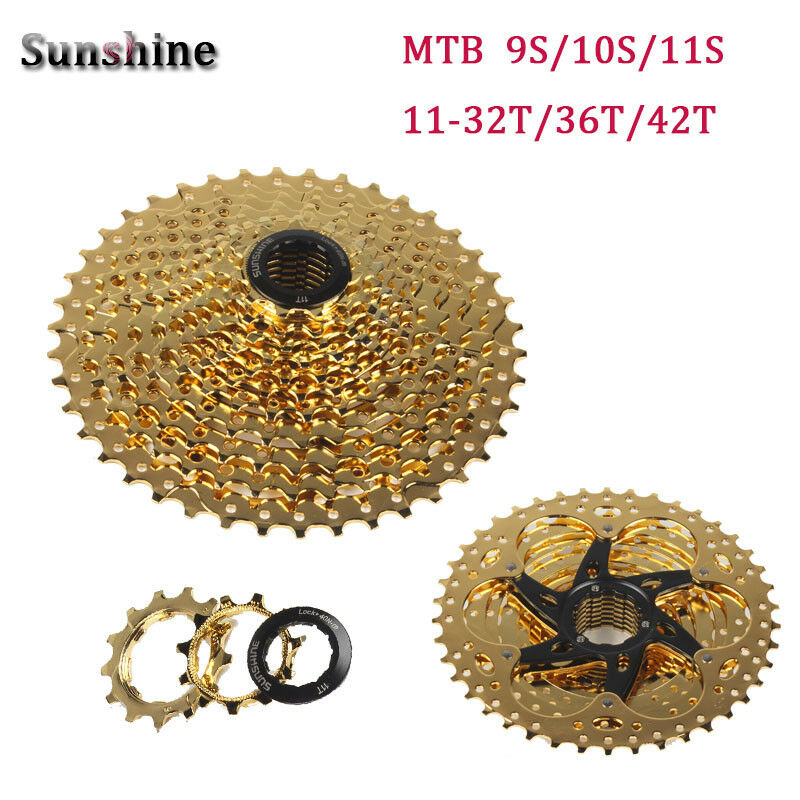 Sunshine Steel MTB Bike Cassettes 9 10 11S 11-32 36 42 50T Cycling Freewheel