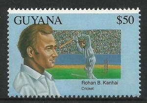 GUYANA 1993 CRICKET ROHAN KANHAI SINGLE VALUE MNH