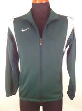 Mens Nike Xs Extra Small Fit Dry Teamwear Zip Front Green Jacket. Euc