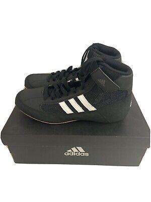 Adidas Kids HVC K Wrestling Shoes Black White Size 2 New In Box AQ3327 | eBay