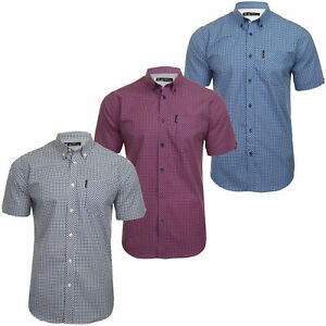Ben-Sherman-Mens-Short-Sleeved-Gingham-Check-Shirt