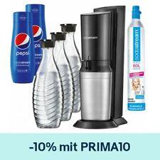 SodaStream Crystal 2.0 inkl. 3 Glaskaraffen + 2x Pepsi Sirup + CO2-Zylinder