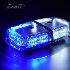 36 LED 12V Oval Light Bar Roof Top Emergency Hazard Flash Strobe WHITE AND BLUE