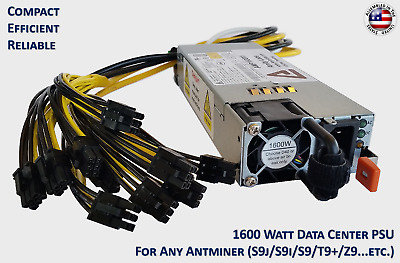 Universal Cryptocurrency Mining Power Supply For Any Antminer or Avalon