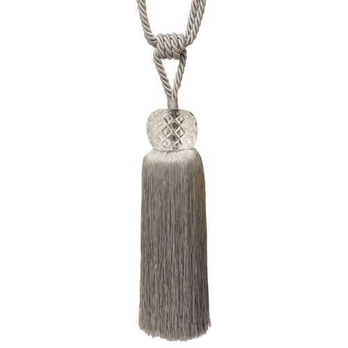 """80CM Diamant coupe verre argent gravé corde rideau drapé tieback 31.5/"""""""