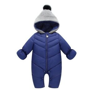 e80c5a4db Toddler Soft Baby Girl s Boy s Down Snow Suit One Piece Size 6 12 18 ...