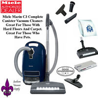 Miele Complete C3 Marin Canister Vacuum Cleaner- Great For Pets