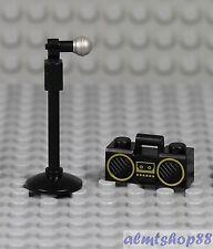 LEGO - Microphone Stand w/ Boombox - Rock Singer Star Karaoke DJ Minifigure