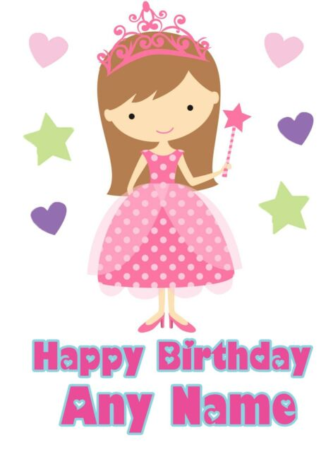 Personalised Princess Birthday Card Girl Daughter Niece