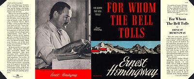 Auflage Ein Unverzichtbares SouveräNes Heilmittel FüR Zuhause Qualifiziert Hemingway Für Whom The Bell Tolls Faksimile umschlag Für Blakiston
