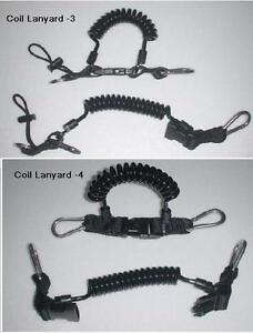 Shock line lanyard,extending lanyard with stainless carabiners Red Hat Diving