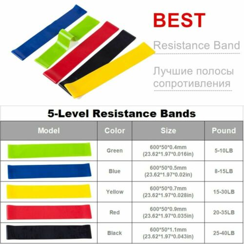 Home Exercise Later Resistance Bands Set 17pcs Indoor Gym Fitness Starps Kit